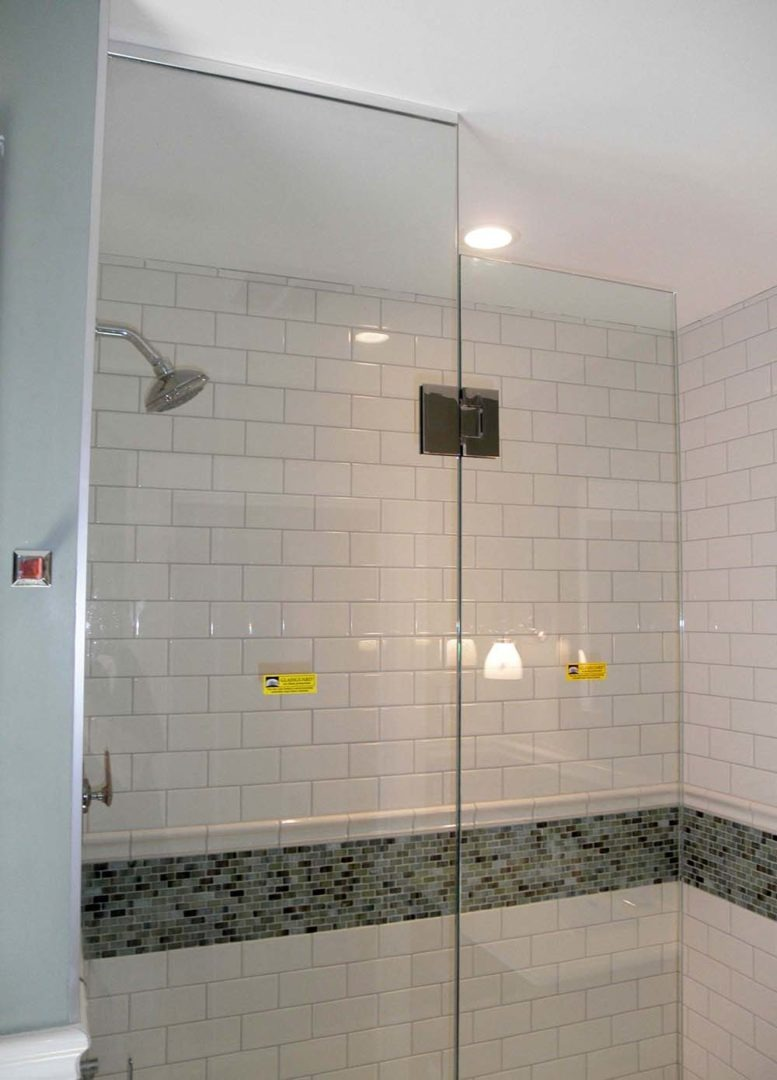 custom glass shower enclosure with u channel