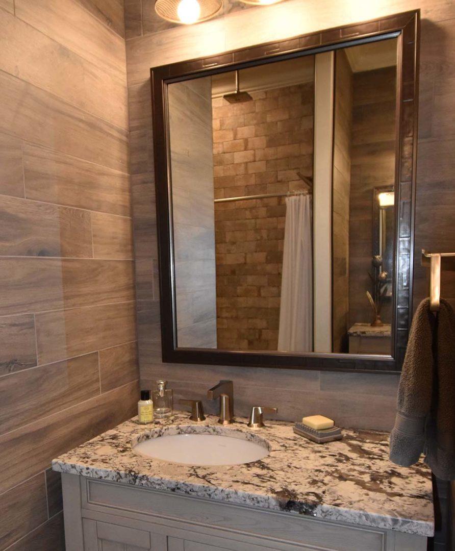 vanity mirror in custom frame