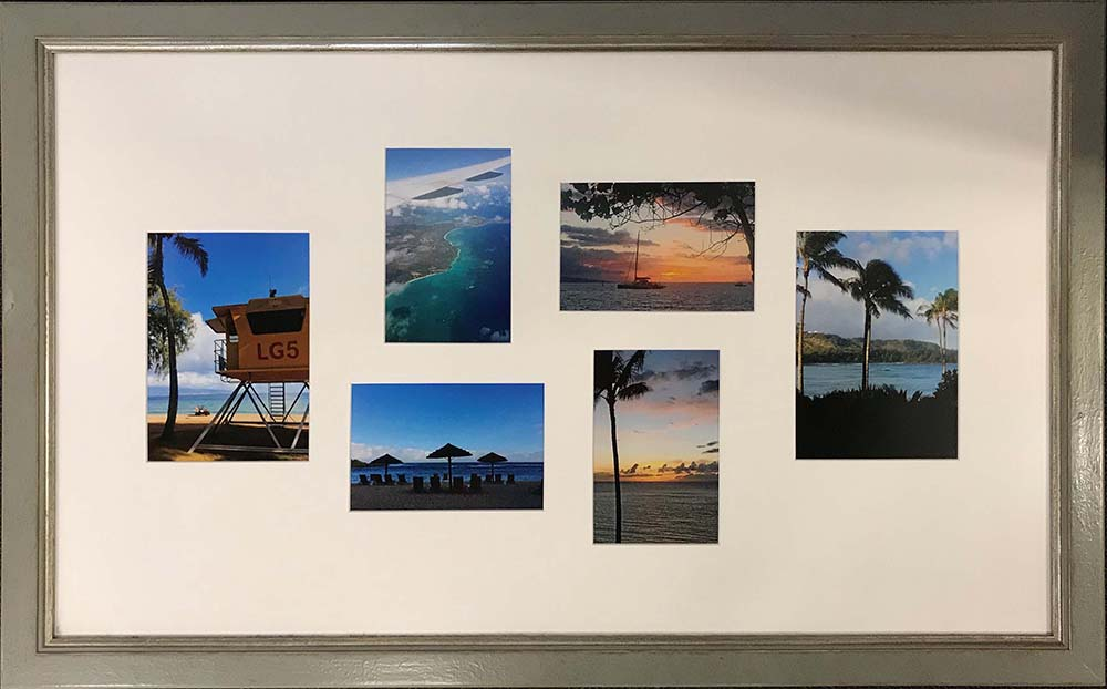 tropical photographs in custom frame
