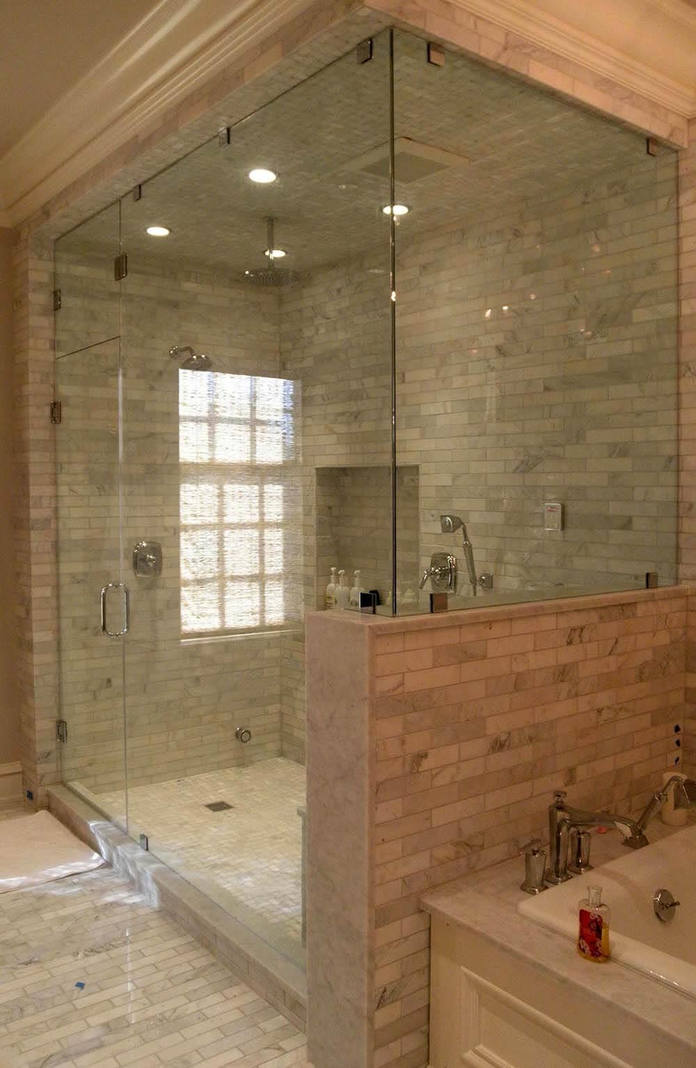 Shower Door with Clamps